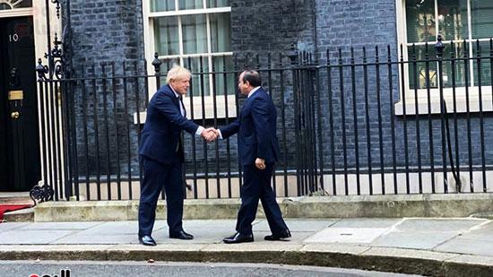 الرئيس عبد الفتاح السيسى و رئيس الوزراء البريطانى