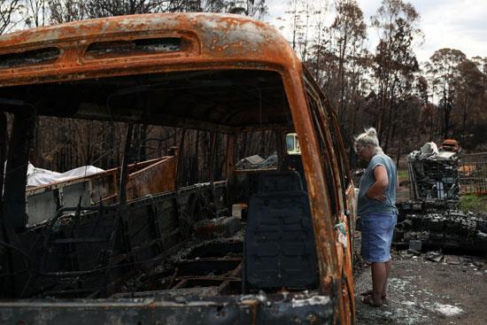 حريق-سيارة-فى-حرائق-الغابات