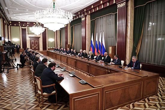 أعضاء الحكومة الروسية الجديدة