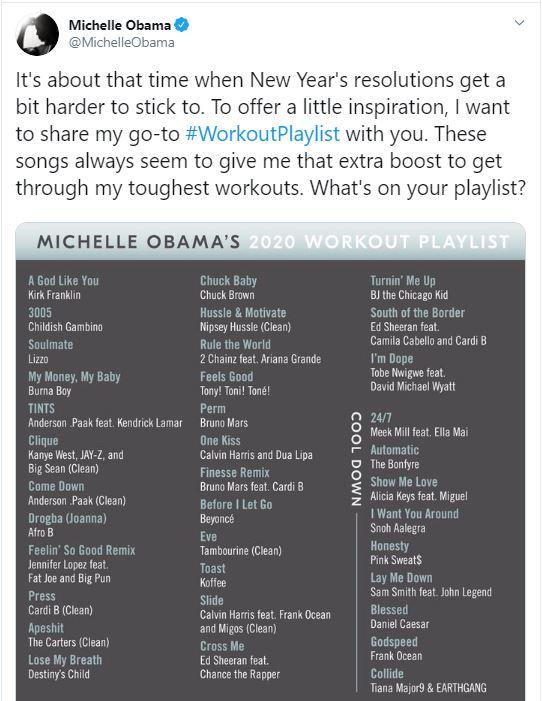 نصيحة ميشيل أوباما للحفاظ على الرشاقة وممارسة التمرينات الرياضية