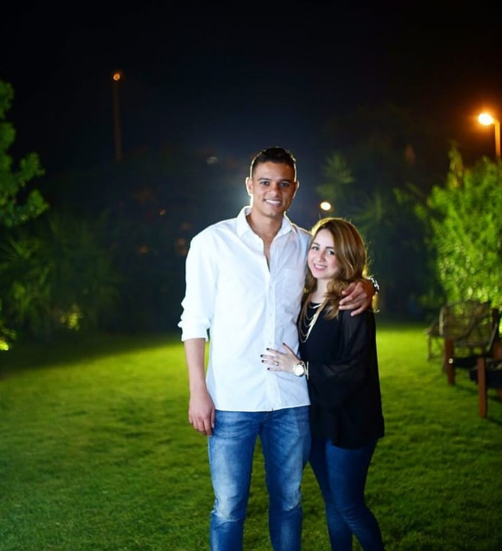Saad Samir and his wife 5