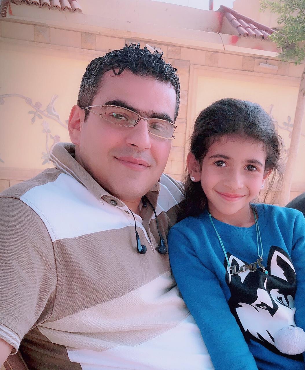 الشهيد رامى هلال وأبنته