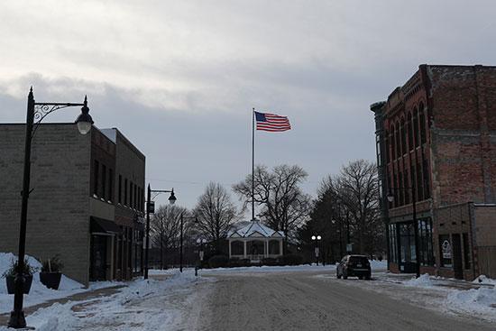أحد شوارع فورت دودج بولاية أيوا
