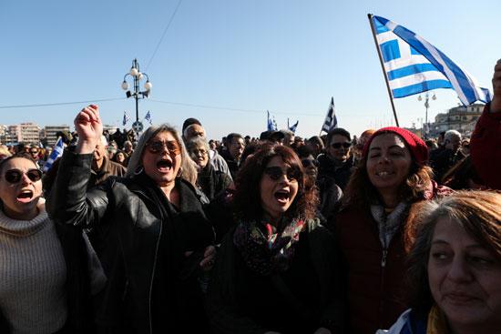 مظاهرات ضد الزحام بسبب مخيمات اللاجئين باليونان
