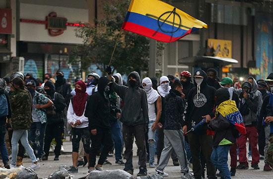 احتجاج ضد حكومة الرئيس الكولومبى إيفان دوكى