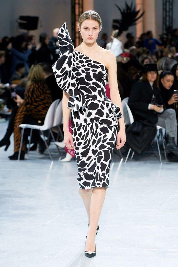 فستان بطبعة جلد البقر