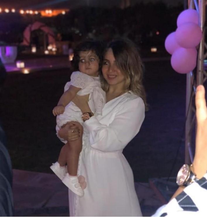 Saad Samir's wife and daughter Fairuz 1
