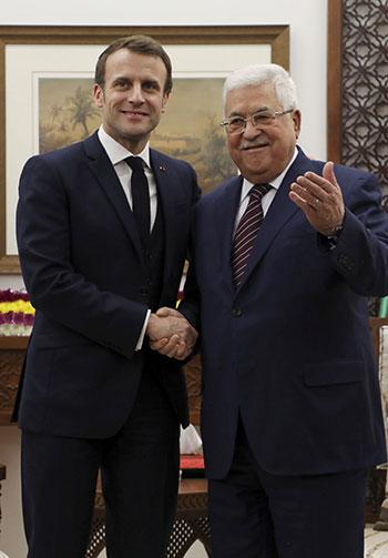 الرئيس الفرنسى يصل الضفة الغربية للقاء الرئيس الفلسطينى