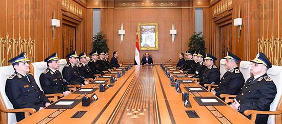 اجتماع الرئيس بالمجلس الاعلى للشرطة