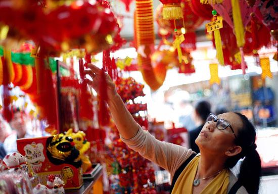 مظاهر احتفالات السنة الصينية بسنغافورة