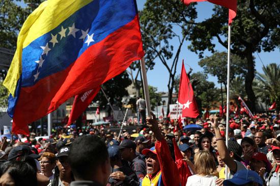 مظاهرات فى فنزويلا دعما للرئيس