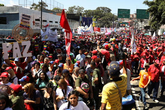 تظاهرات دعما لمادورو