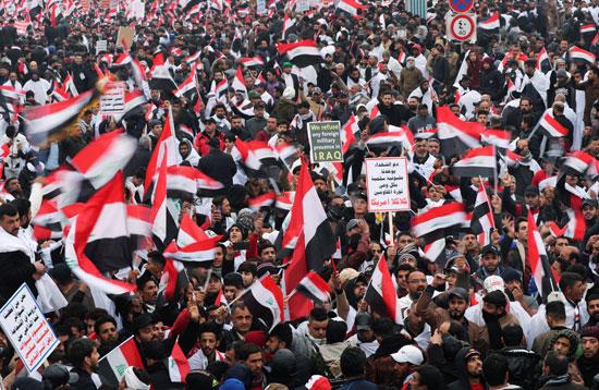جانب من الاحتجاجات فى العراق