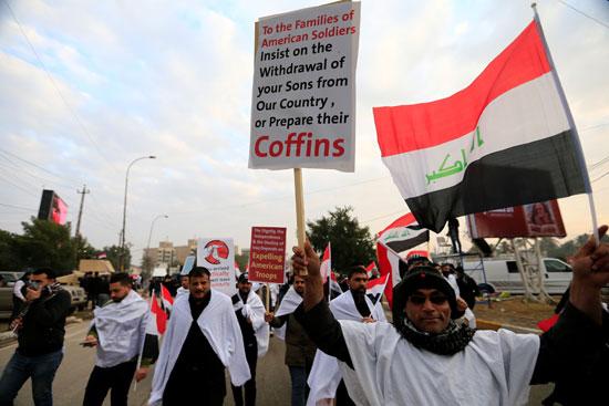 جانب من الاحتجاجات بالعراق