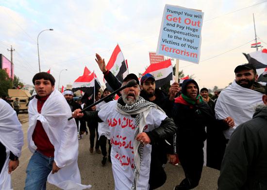 مظاهرات تطالب بطرد القوات الأمريكية من العراق
