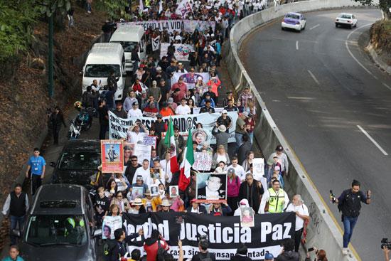 جانب من المتظاهر