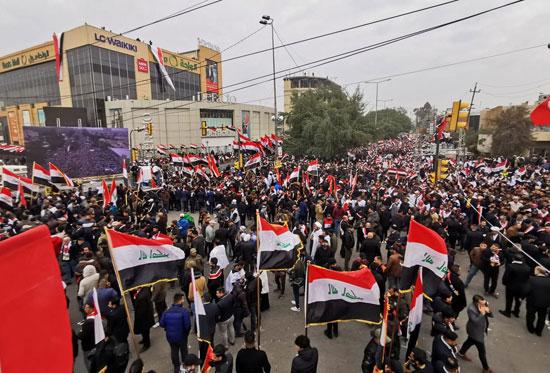 مسيرات تجوب شوارع العراق