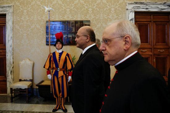 الرئيس العراقى قبل لقائه بابا الفاتيكان