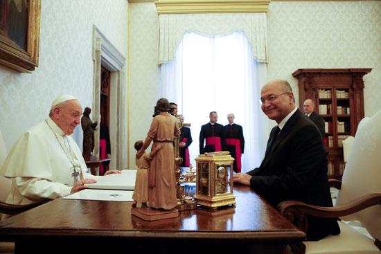 الرئيس العراقى و البابا فرانسيس