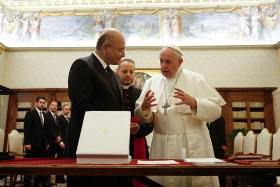 برهم صالح و بابا الفاتيكان