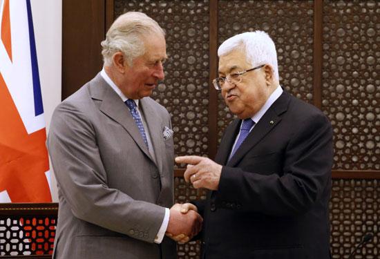 تشالز والرئيس الفلسطينى عباس
