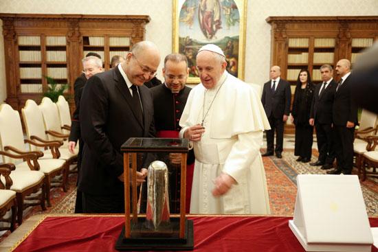 الرئيس العراقى و بابا الفاتيكان