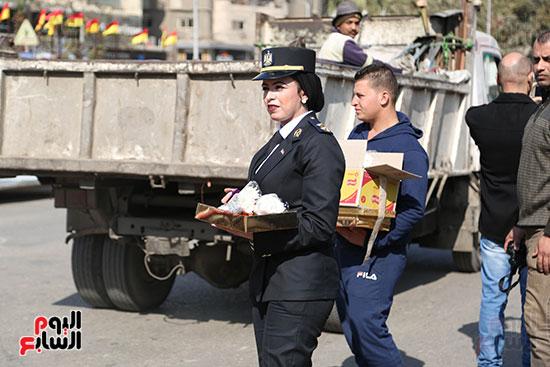 الشرطة النسائية تشارك فى الاحتفال