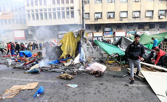 استمرار الاحتجاجات بميدان التحرير بالعاصمة العراقية