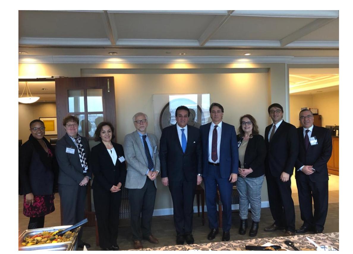 لقاء الوزير مع رابطة المجلس الأمريكي للتعليم (1)