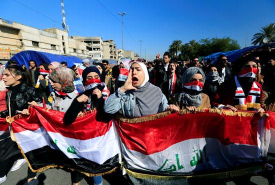 مظاهرة-لطالبات-فى-بغداد