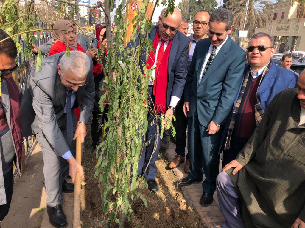 مبادرة اتحضر للأخضر لزراعة الاشجار المثمرة بالغربية (3)