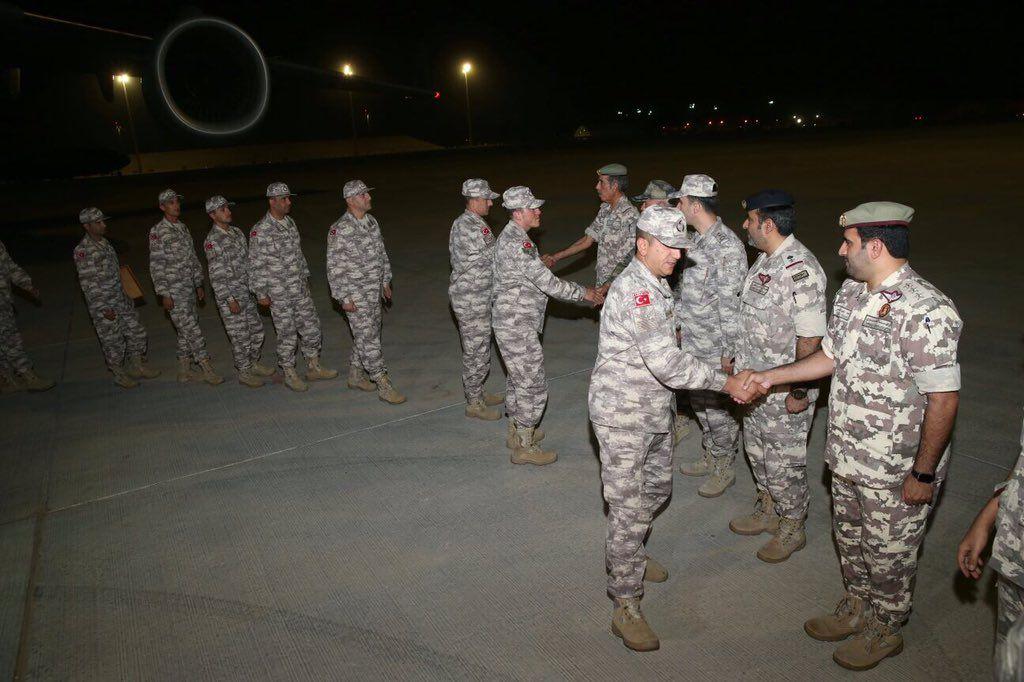 الجنود الأتراك بالدوحة
