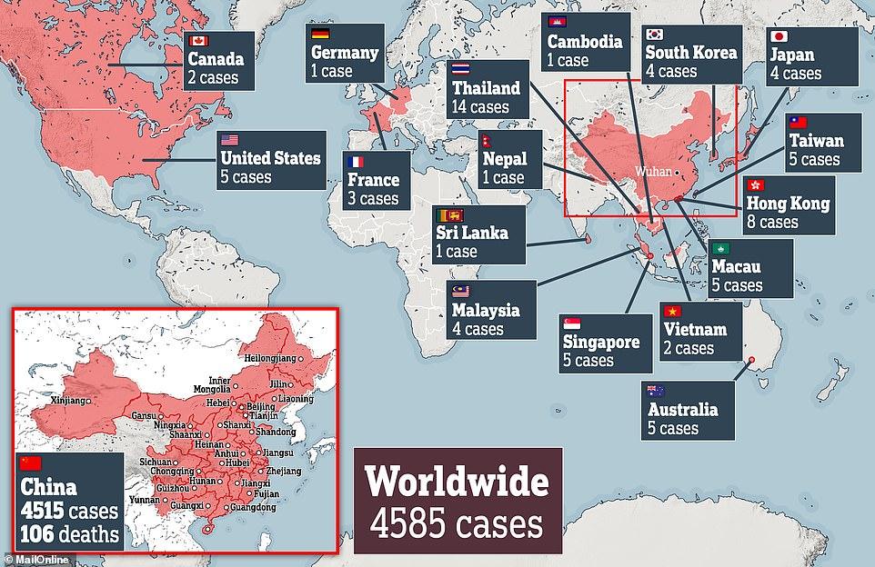 انتشار الفيروس على مستوى العالم