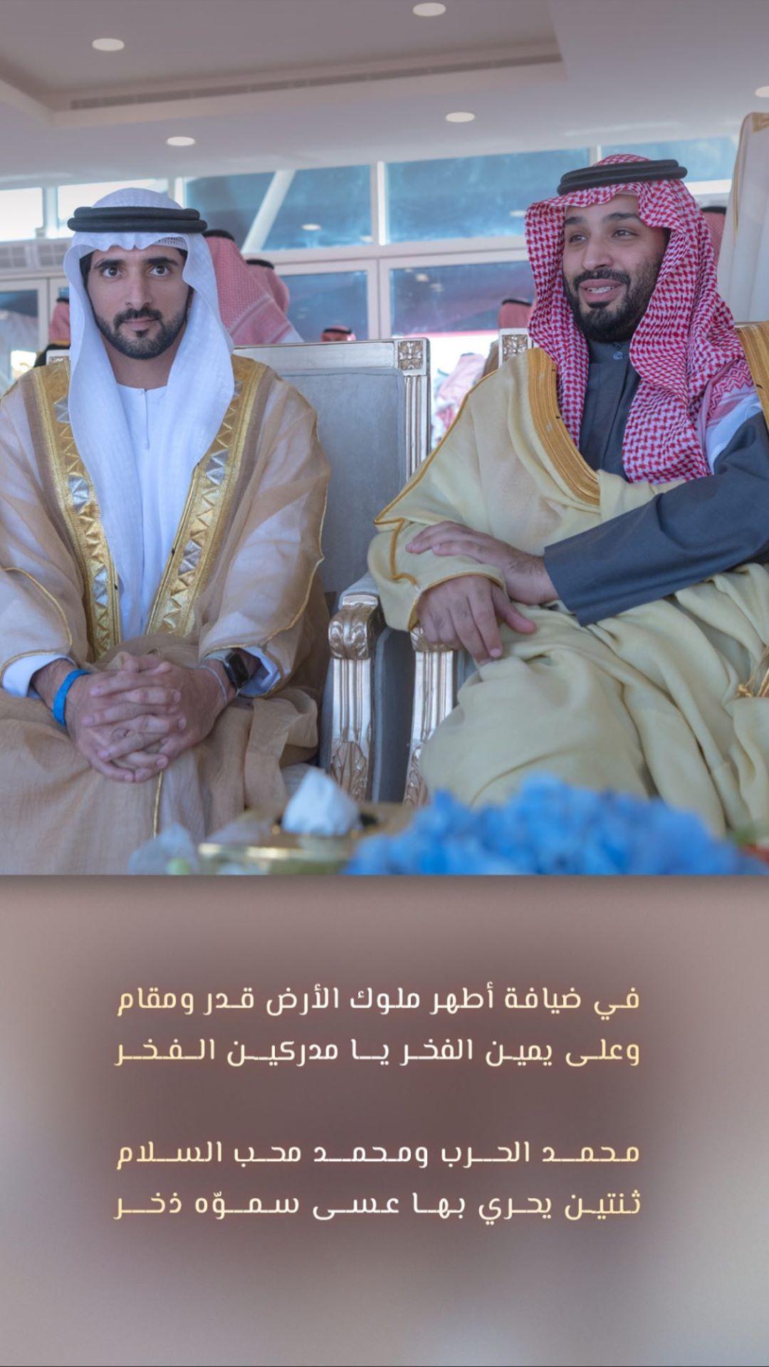 الصورة التي نشرها ولي عهد دبي
