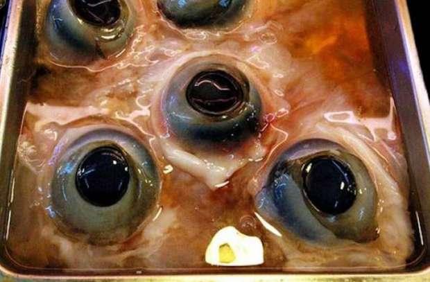 عيون سمك التونة