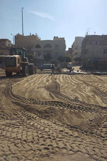 إنارة الشوارع وتوصيل الغاز بالعريش (3)