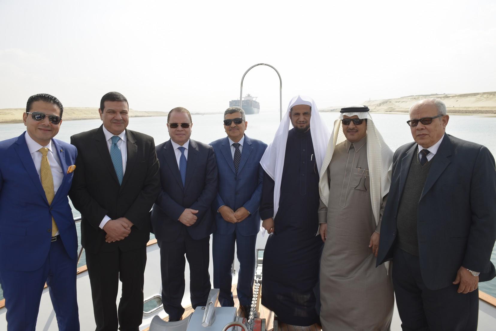 الفريق أسامة ربيع يستقبل النائب العام المصرى والسعودي (1)