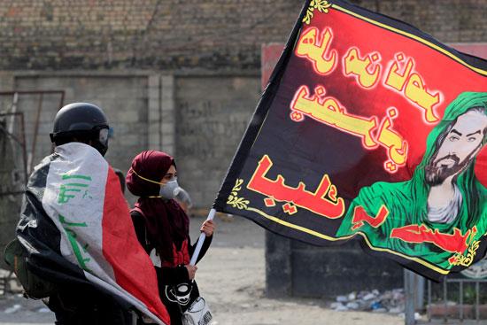 متظاهرة-عراقية