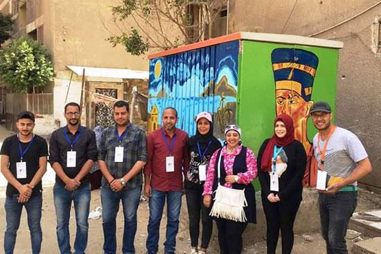 مبادرة-شباب-الأمل-تزيين-محولات-الكهرباء-بالقليوبية