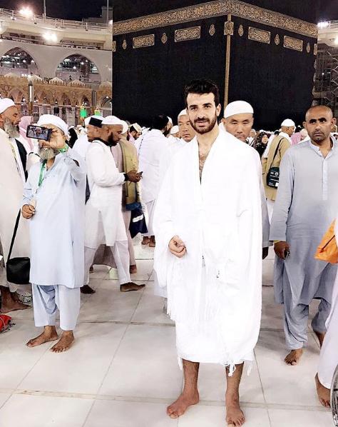 محمود متولي في الحرم الشريف