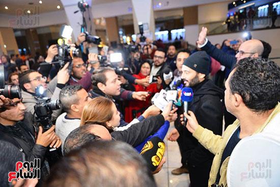 خالد النبوي يتحدث لوسائل الإعلام