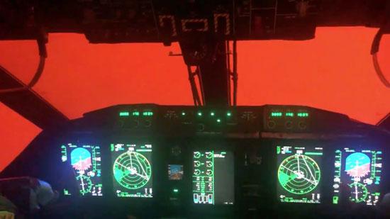 الاجواء بأستراليا من داخل طائرة الإطفاء