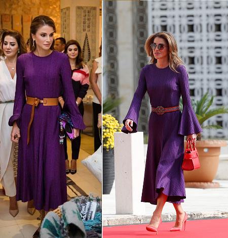 الملكة رانيا ارتدت نفس الفستان مرتين