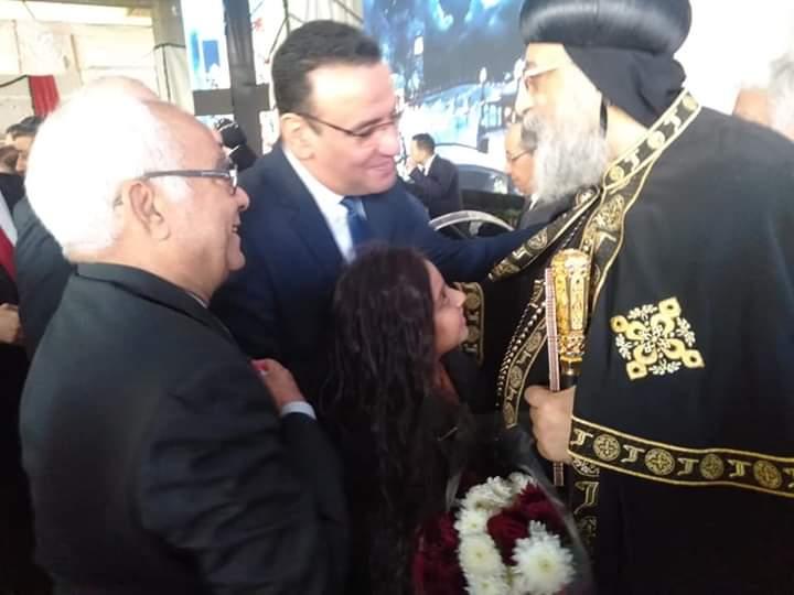 رئيس حزب الحرية مع البابا تواضروس