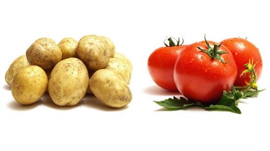 وصفات طبيعية ـ الطماطم والبطاطس