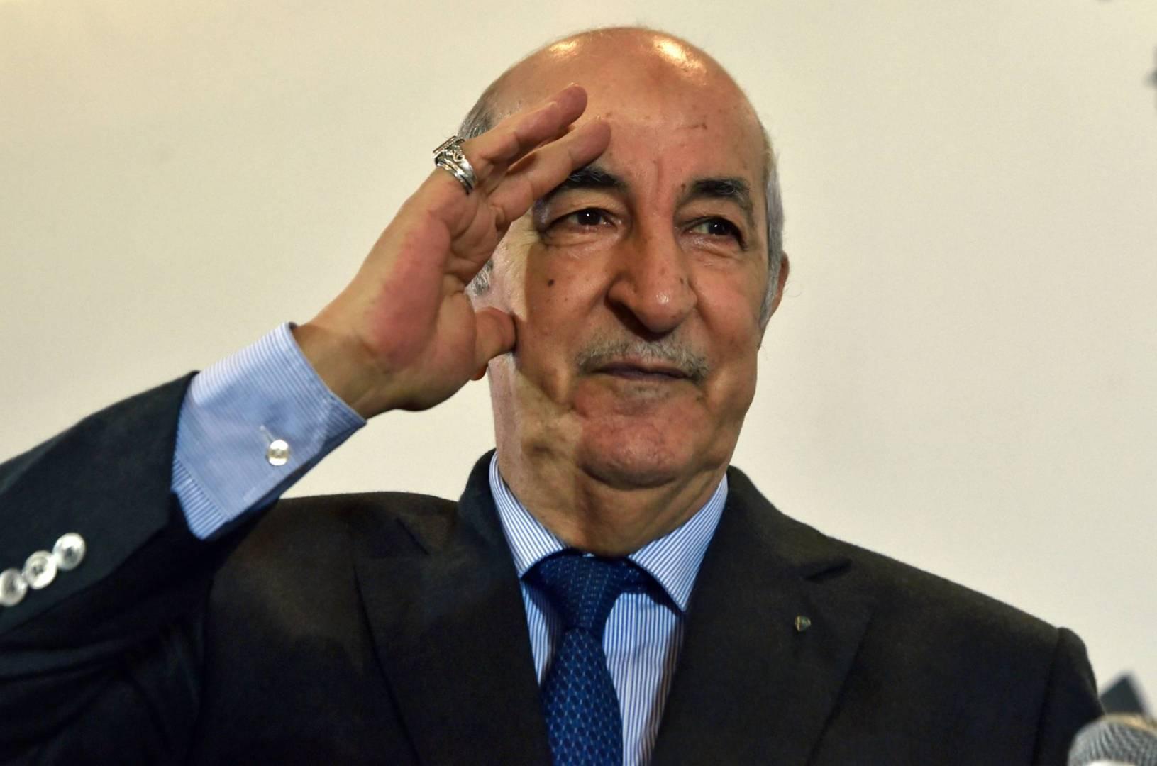 عبد المجيد تبون الرئيس الجزائرى