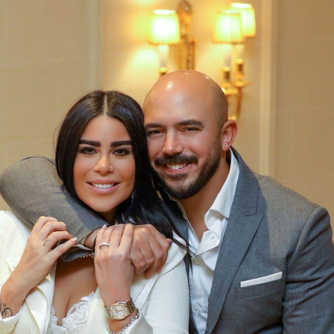 محمود العسيلى وزوجته
