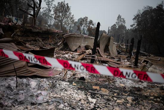 النيران دمرت مساحات خضراء