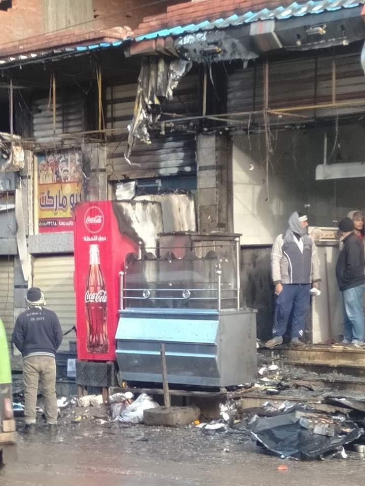 المحلات المحترقة بسبب سوء الاحوال الجوية  (1)