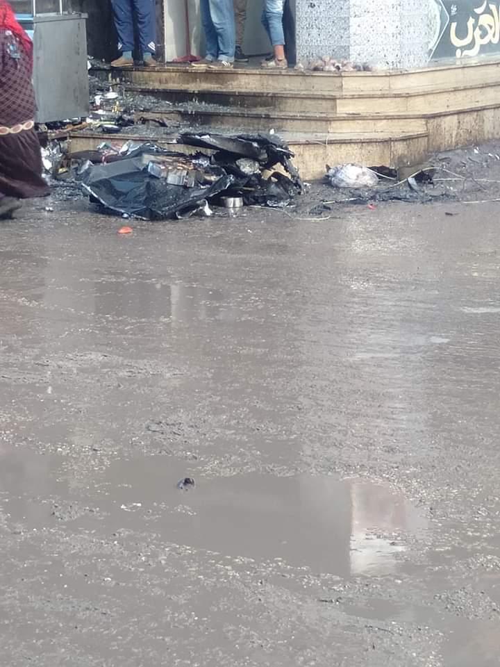 المحلات المحترقة بسبب سوء الاحوال الجوية  (2)